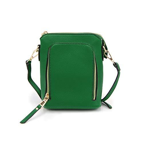 Isabelle Small Women's Double Zip Crossbody Bag (Green)