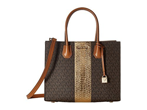 MICHAEL Michael Kors Women's Mercer Tote (Brown/Gold) ()