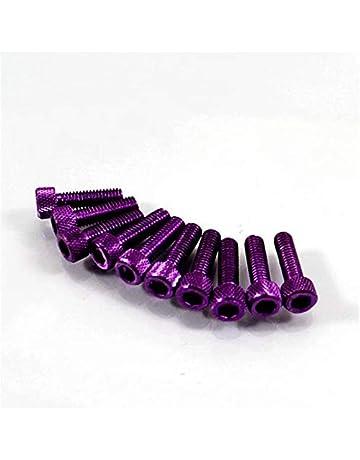 Color Name : Violet NO LOGO SHIYM-MTC 10PCS color/é Motocross Racing Universal 6MM Partie Kit Car/énage Dirt Pit Bike Moto /écrous de Fixation boulons Accessoires Moto vis