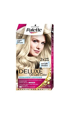 Palette Deluxe 218 Silver Blonde Permanent Hair (Hair Color Palette)