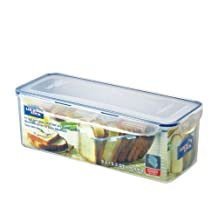 LOCK & LOCK Airtight Rectangular Food Storage Container with Divider, Bread Box 169.07-oz / 21.13-cup