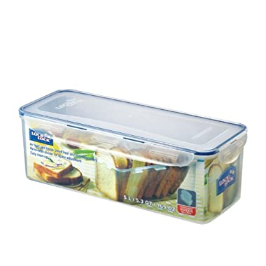 Lock & Lock Rectangular Bread Box, Tall, 21-Cup with Divider