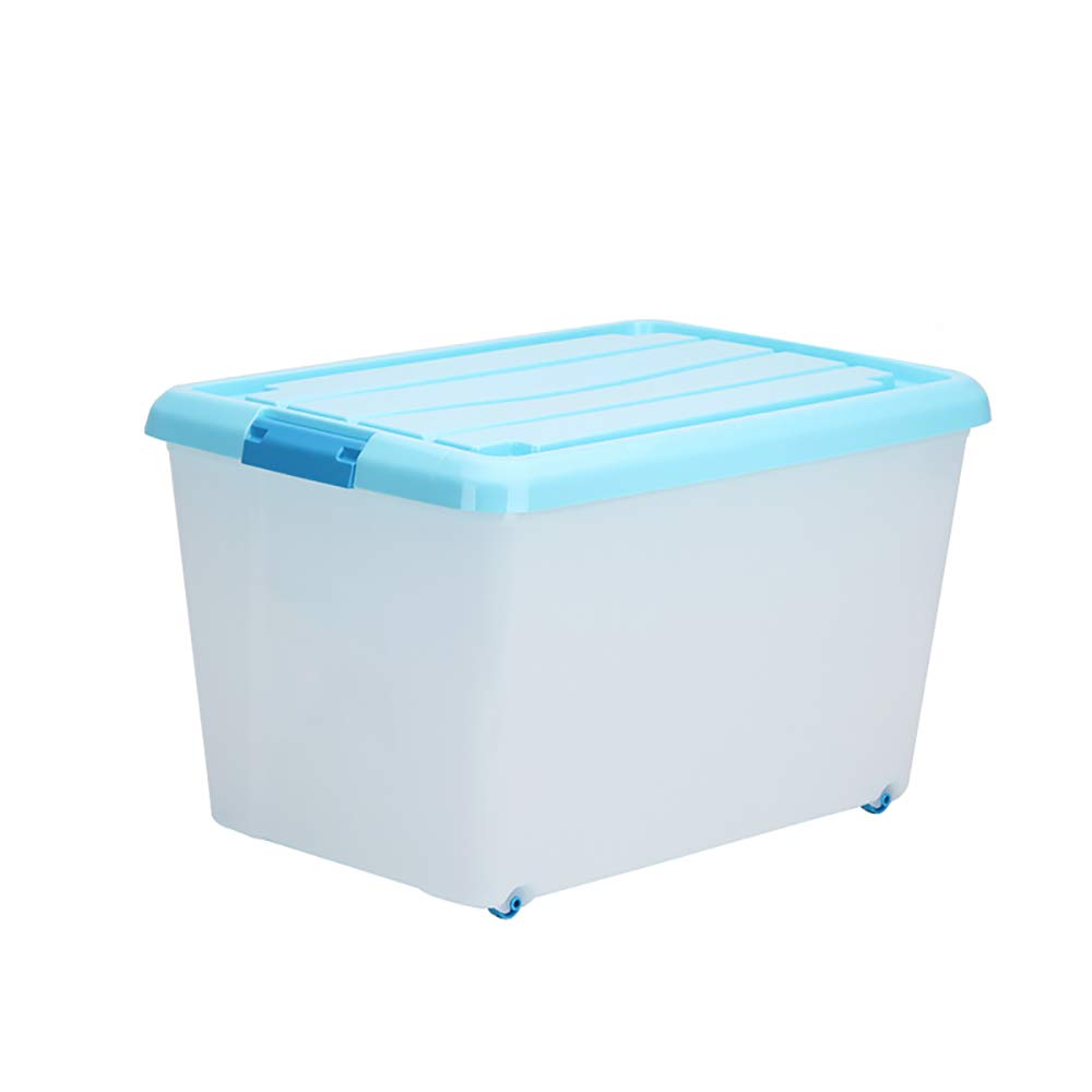 HAKN Storage Box, Plastic Thickening Transparent Clothes Storage Box with Lid Office Storage Box (Color : Pink, Size : B)