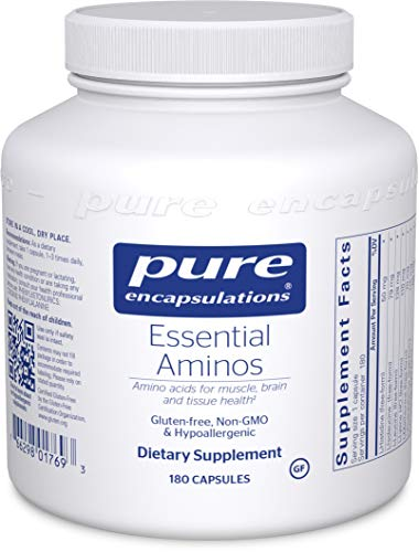 Pure Encapsulations – Essential Aminos – Hypoallergenic Supplement to Support Healthy Muscle and Tissue* – 180 Capsules