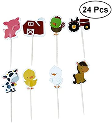 YeahiBaby Cake Topper Cupcake Topper Animales Decoración ...