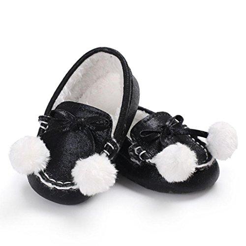 Clode® Baby Jungen weiche alleinige Säuglingskleinkind Neugeborene erwärmte Schuhe Schwarz