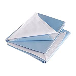 DMI Waterproof Furniture and Bed Protector Pad, 3 Ply, Reuseable, 34 x 24, Blue
