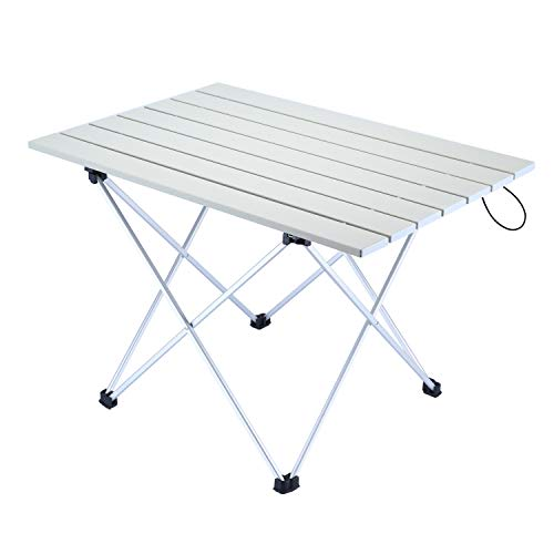 - A plus life Camping Table, 56×41×40 cm, Portable Outdoor Folding Table, Lightweight Aluminum Table with Carrying Bag for Outdoor and Home, Easy to Clean.