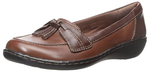 CLARKS Women's Ashland Bubble Slip-On Loafer, Brown Multi, 8.5 M US