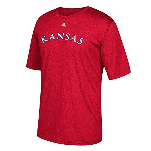 Jayhawks Adidas Shorts Kansas (adidas NCAA Kansas Jayhawks Men's Team Font Ultimate Short Sleeve Tee, Red, Large)