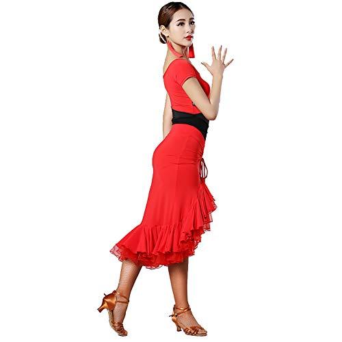 34f51f6c468c Festa Xhtw Impostato amp b Concorrenza Abiti Costumi Di Latino Gonna  Elegante Flessibile Danza Palcoscenico Donna Adulto Esame Vestito C6qTwxrC