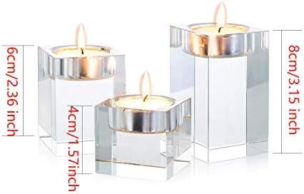 4 cm Portacandele in cristallo K9 da 4 cm 4 cm 4 pezzi DecentGadget/® 4 cm 4 cm 4 cm 4 cm e 4 cm