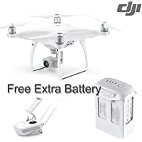 DJI Intellectual, Powerful Phantom 4 Advanced White With Free Extra Battery(No Screen)