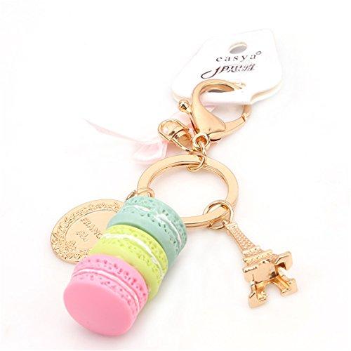 OrliverHL Women's Cute Macaron Cake Dessert Pendant Charm Bag Purse Keychain (Cute Charms)