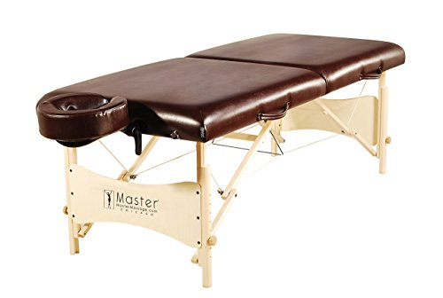 Master Massage Balboa LX Portable Massage Table Package, Chocolate Luster, 30 Inch by Master Massage