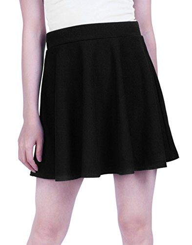 HDE Womens Skater Pleated Stretch
