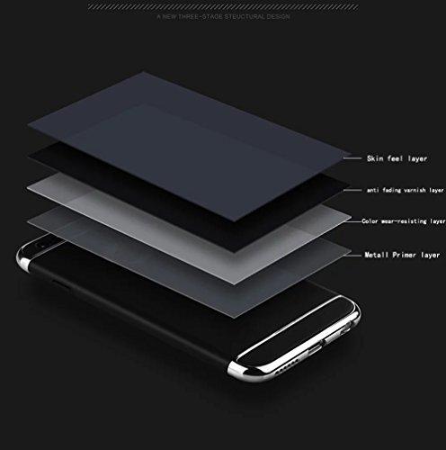 para iPhone 7 Plus / 8 Plus Funda, Vandot Hybrid Diseño 3 en 1 Cáscara Dura de la PC Recubrimiento Metálico Marco Chapado Matte de Lujo Hard PC Caja de Telefono Protección Cubierta Case Cover para iPh Anillo 01