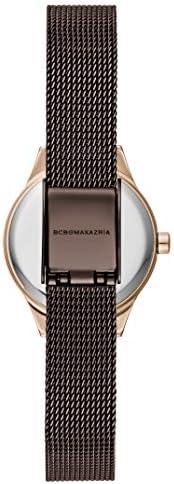 BCBGMAXAZRIA Women's Classic Japanese-Quartz Watch with Stainless-Steel Strap, Brown, 10 (Model: BG50828006)