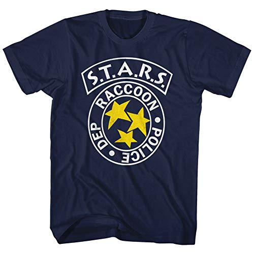 American Classics Resident Evil Horror Science Fiction Film Video Game RPD Stars Adult T-Shirt Tee (Small) ()