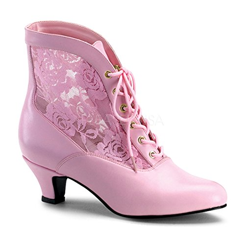 Boots Lace Shoes Accent Shoes 05 Saloon Victorian Pink Girl Granny 1Uqpw4