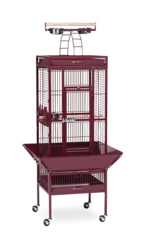 3151RED Pet Products Wrought Iron Select Bird Cage, Garne...