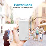 Zinq Technologies 20000mAh Li-Polymer Power Bank with 12W Fast Charge Type C & Micro USB Input ZQ20KPC (White)