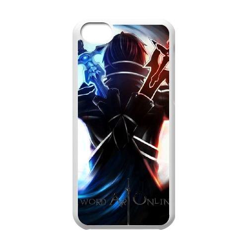Sword Art Online coque iPhone 5c cellulaire cas coque de téléphone cas blanche couverture de téléphone portable EEECBCAAN08196
