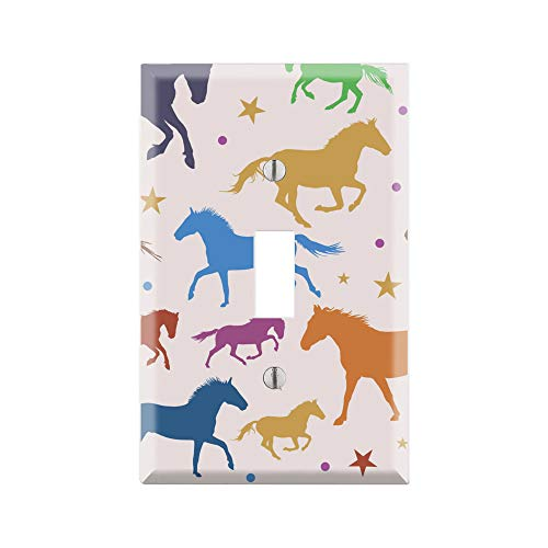 HORSE Light Switch Cover, HORSE Graphics Wallplate, Outlet Cover, Single Toggle, Single Rocker, Outlet Cover, Gift for HORSE Lover, HORSE room decor, HORSE Wall Plate Cover, HORSE Art TF118 ()