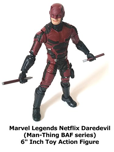 """Review: Marvel Legends Netflix Daredevil (Man-Thing BAF series) 6"""" Inch Toy Action Figure"""