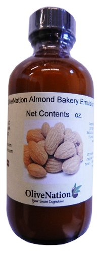 OliveNation Almond Emulsion - Used to Flavor the Cakes, Cookies, and More - Size of 1 Gal by OliveNation