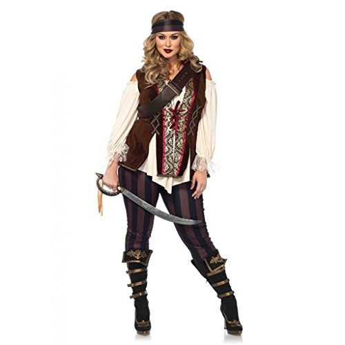 Adult Blackheart Pirate Costumes (Sexy Pirate Captain Blackheart Adult Halloween Costume Women's Plus Size XXX-Large)