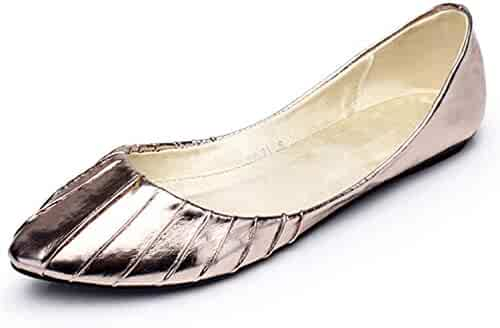 920e8d124a37 Aancy-Women Casual Flats Women Sexy Flats Shoes Comfort Leather Slip On  Fashion Casual Pleated