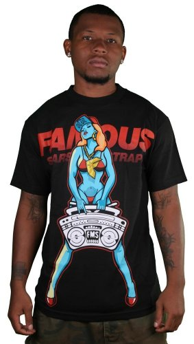 Famous Stars and Straps - My Radio Mens T-Shirt in Black, Size: XX-Large, Color: Black