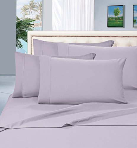 Elegant Comfort Luxurious Set on Amazon 1500 Thread Count Hotel Quality Wrinkle,Fade and Stain Resistant 2-Piece Pillowcases, Hypoallergenic King, Lilac