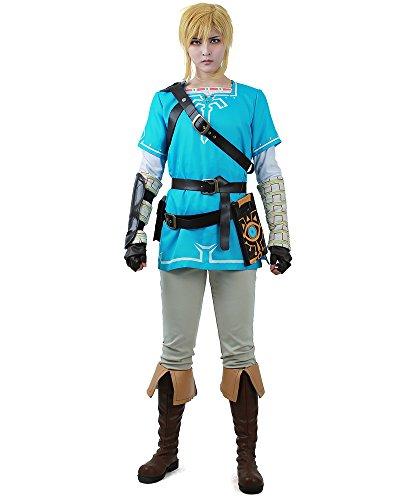 [Miccostumes Men's The Legend of Zelda: Breath of the Wild Link Cosplay Costume (men m)] (Wild Man Costumes)