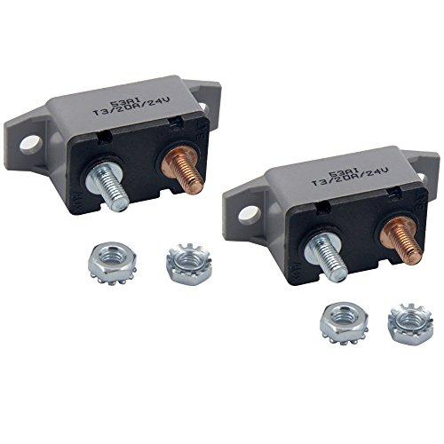 ZOOKOTO 2pcs 12-24V 20 Amp ATV Resettable Circuit Breaker Fuse holder 20A ()