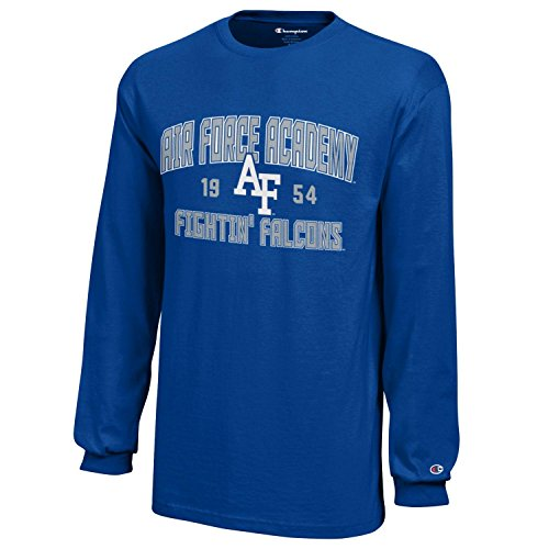- Champion NCAA Air Force Falcons Youth Boys Long Sleeve Jersey T-Shirt, Medium, Royal Blue