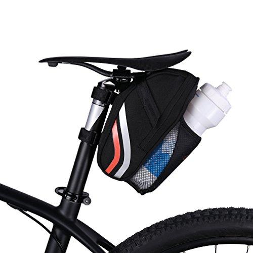 CBR Bike Satteltasche Seat Post Tasche Pack Cycling Keil mit Wattle Bolttle Halter Schwarz Orange