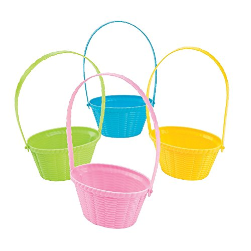 Mini Pastel Easter Baskets Easter & Easter Baskets & Grass (12 Pack) 2