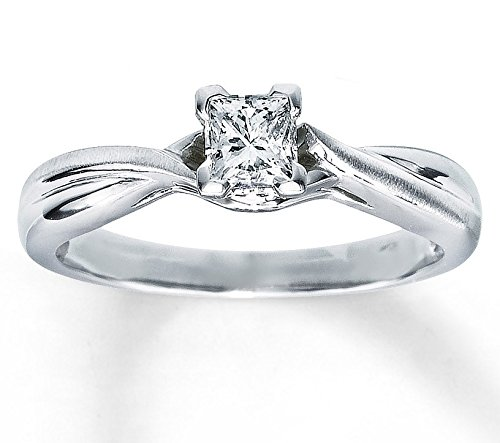 0.5 Ct Princess Solitaire - 4