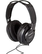 Panasonic RP-HT 265 E-K hoofdtelefoon (5 m lange kabel, 3,5 mm stekker en 6,3 mm adapter, volumeregeling) zwart