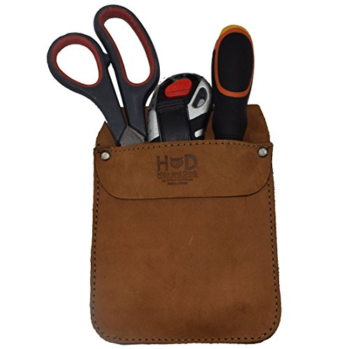 Durable Leather Work Pocket Organizer for Tools/Pens, Office & Work Essentials Handmade by Hide & Drink :: Toffee Suede by Hide & Drink