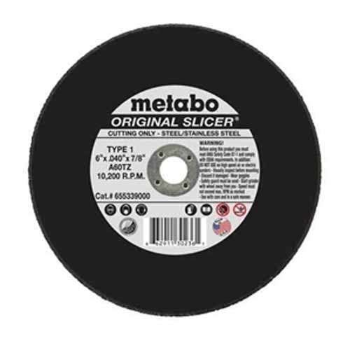 Metabo 55-339 6'' x 7/8'' x .040 Cut Off Slicer Wheel 400-Pack by Metabo