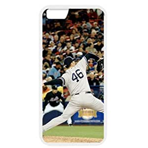 MLB iPhone 6 White New York Yankees cell phone cases&Gift Holiday&Christmas Gifts NBGH6C9125120