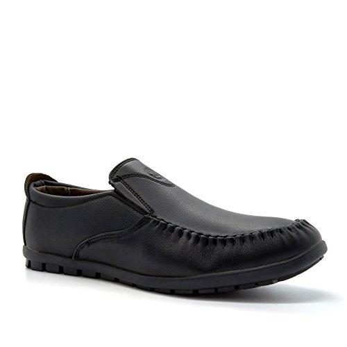 London Footwear Lazaro, Men's Loafers Black