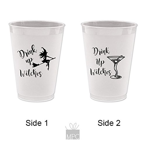Halloween Frost Flex Plastic Cups - Drink Up Witches Martini