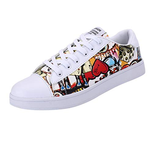 Braloneesc New Running Shoes Men Sports Sneakers Graffiti for and Women Lovers Red