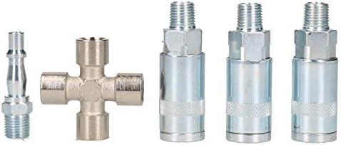 Conector hembra de 3 v/ías de liberaci/ón r/ápida para manguera de aire de compresor de aire 1//4 BSP Y