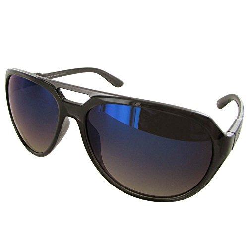 Vuarnet Extreme VE5009 Aviator Sunglasses - Medium Shiny Black/Blue Blue (Sunglassses Cheap)