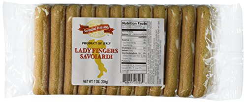 Supremo Italiano (Product of Italy) Savoiardi Lady Fingers, 7-Ounce Packages (Pack of 4)